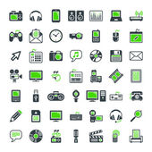 Multimedia icons set. — Stock Vector