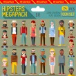 Постер, плакат: Hipsters megapack icons