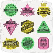 étiquettes de haute qualité — Vecteur