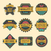 Etiquetas de alta qualidade — Vetor de Stock