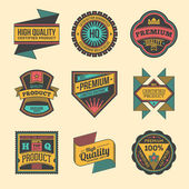 High quality labels — Stock Vector