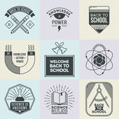 School and science set — Vector de stock