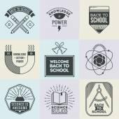 School and science set — Stock Vector