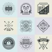 Retro logotypes set — Stock Vector
