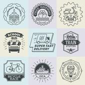 School logotypes set — Stockvektor
