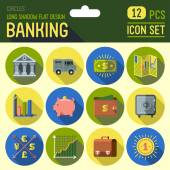 Banking icon set. — Stock Vector
