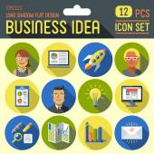 Business idea icons — Stock Vector