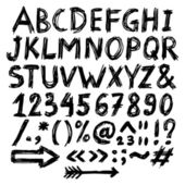 алфавит болвана — Cтоковый вектор