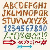 涂鸦字母 — 图库矢量图片