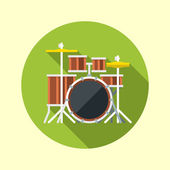 Drum kit icon — Stockvector