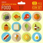 Food and drinks  icons — Stock Vector