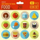 Jídlo a pití ikony — Stock vektor