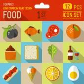 Mat och dryck ikoner — Stockvektor