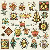 Elementos del diseño floral — Vector de stock
