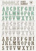 Alphabet de doodle — Vecteur