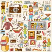 Hipster swag set — Stock Vector