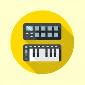 Midi pads and keyboard — Stockvector