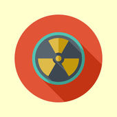 Nuclear symbol icon — Stock Vector