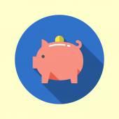 Piggy bank icon. — Stock Vector