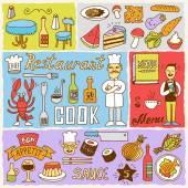 Restaurant banners — Stock Vector