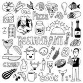 Restaurant doodle set. — Stock Vector