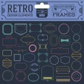 Retro frames — Stock Vector