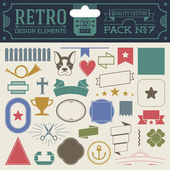 Hipster design elements — Stock Vector
