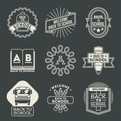 School logotypes set. — Stockvektor