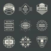 Retro logotypes set — Vector de stock