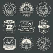 Transport logotypes set — Vettoriale Stock