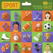 Sport pictogrammenset. — Stockvector
