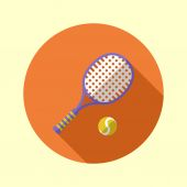 Tennisracket en bal — Stockvector