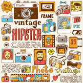 Hipster cameras set — Stock Vector