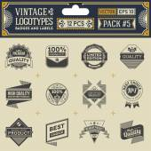 Vintage logotypes — Stock Vector