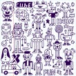 Wacky crazy doodles set — ストックベクタ #77838390
