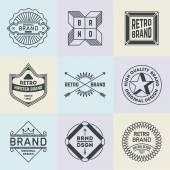 Assorted retro design insignias — Stock Vector