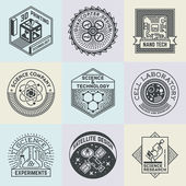 Assorted Science Insignias — Stock Vector
