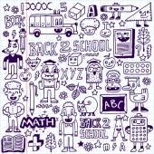 Back to school doodle set — Stock Vector