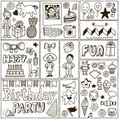 Birthday Themes Banners set — Stock Vector