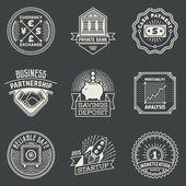 Financial Business Insignias — Stock Vector