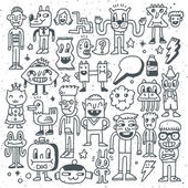 Cartoon wacky doodle set — Stock Vector