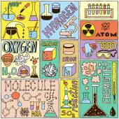 Chemistry Science Banners set. — Stock Vector