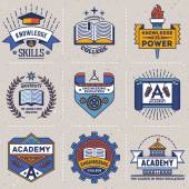 High education logotypes — Stock Vector