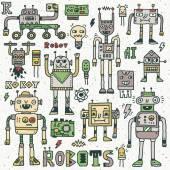 Roboti, elektrické, obvody, Microschemes. — Stock vektor