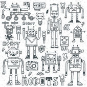 Robots,Electrical, Circuits, Microschemes. — Stock Vector
