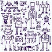 Ρομπότ ηλεκτρικές, κυκλώματα, Microschemes. — Διανυσματικό Αρχείο