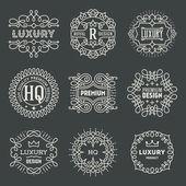 Design Luxury Insignias Logotypes — Stock Vector