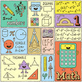 Math Science Banners set. — Stock Vector