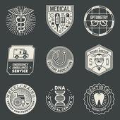 Plantilla de logotipos de Insignias médicos — Vector de stock