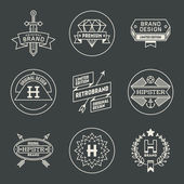 Hipster insignias logotypes set — Stock Vector